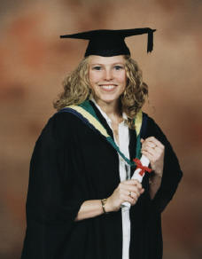 Lisa at her graduation