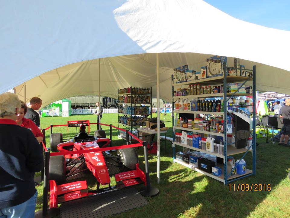 The Apec Formula 1 car on the SES stand attracted lots of attention